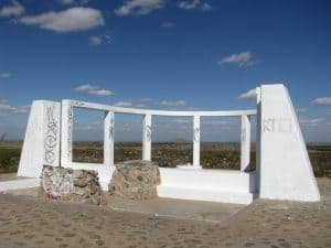Monument honoring the Japanese relocatees at the Gila River Relocation Center.
